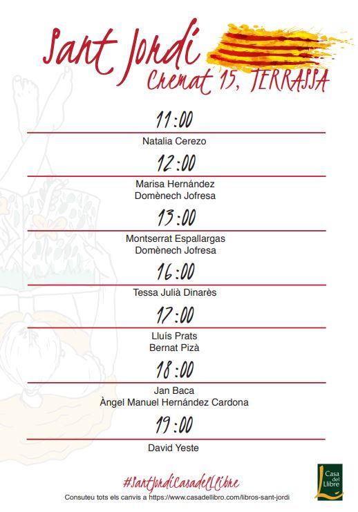 Firmas Sant Jordi Terrassa Casadellibre
