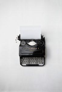 máquina de escribir clásica