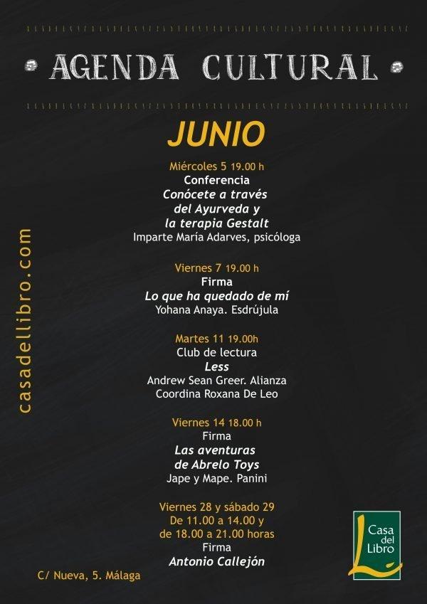 Agenda Cultural Casa del libro Murcia Junio