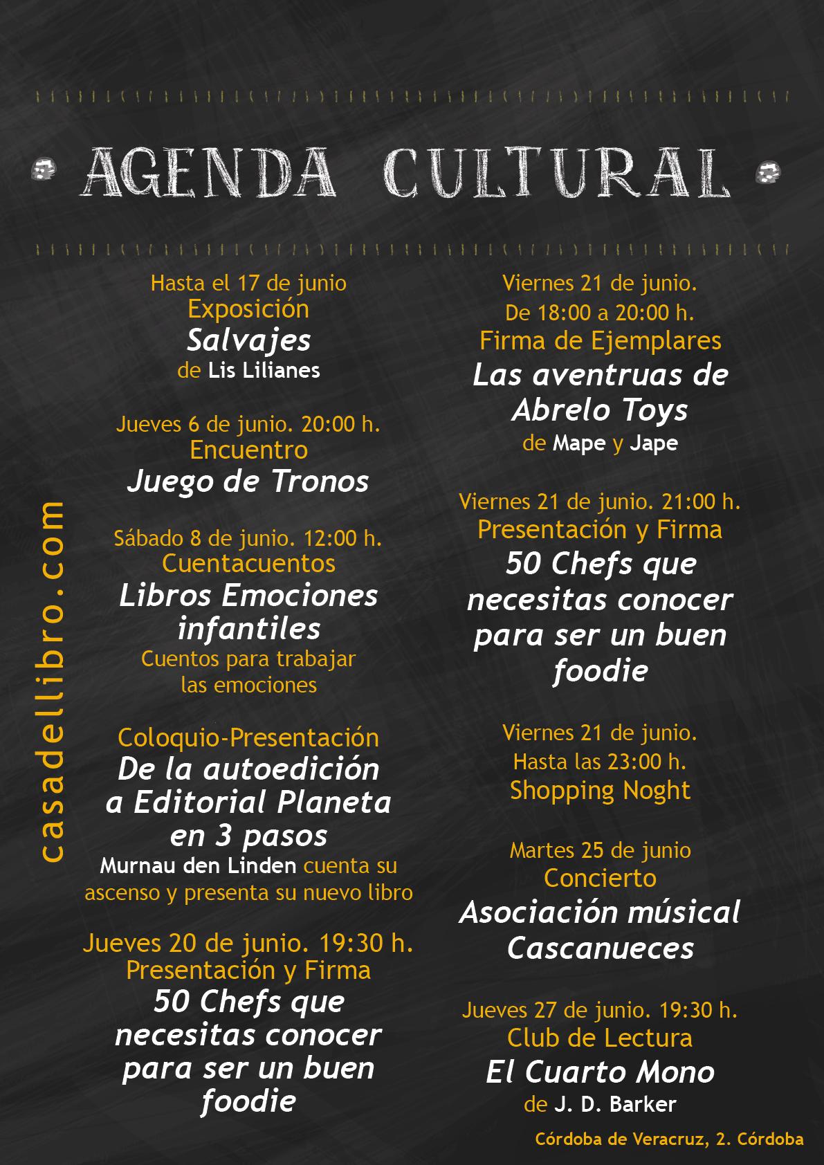 Eventos Córdoba junio 2019