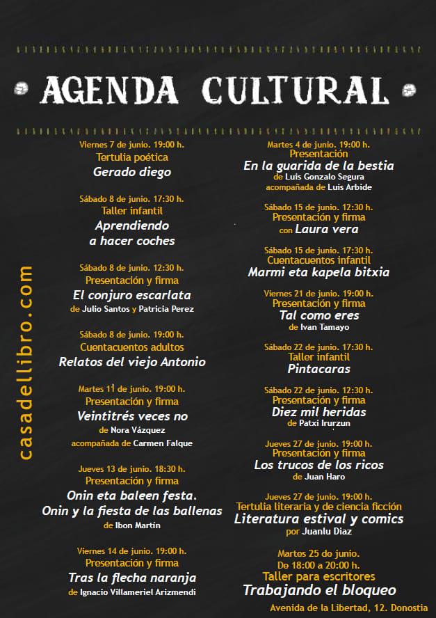Eventos culturales junio San Sebastián