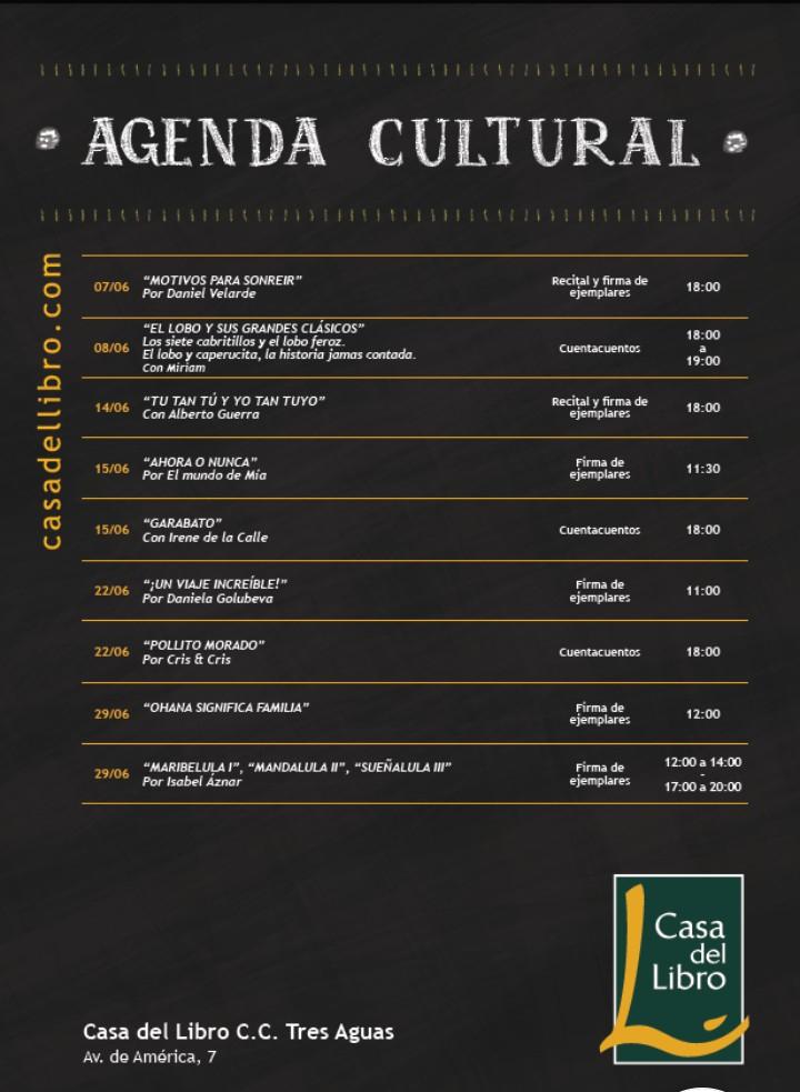 Eventos Libros Madrid junio 2019