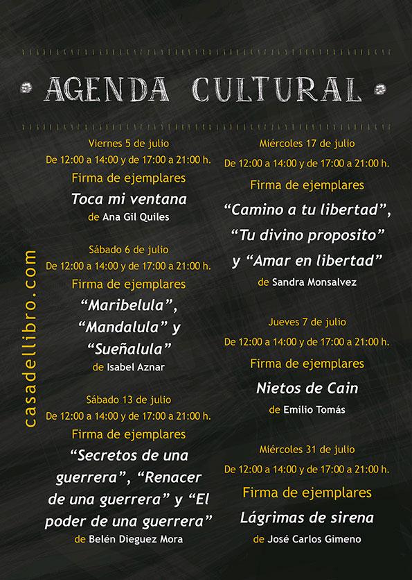 Agenda cultura librería Casa del Libro Goya