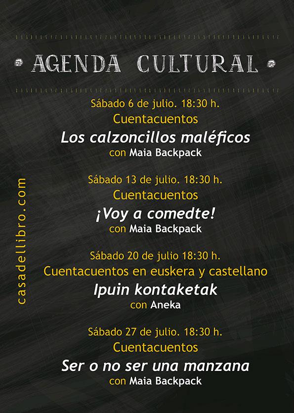 Agenda cultural librería Casa del Libro Vitoria