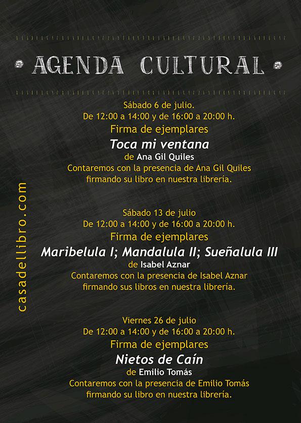 Agenda cultural librería Casa del Libro en Xanadú