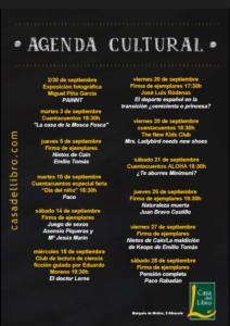 Agenda cultural septiembre -Casa del Libro Albacete