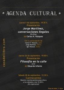 Agenda cultural septiembre - Casa del Libro Gijón