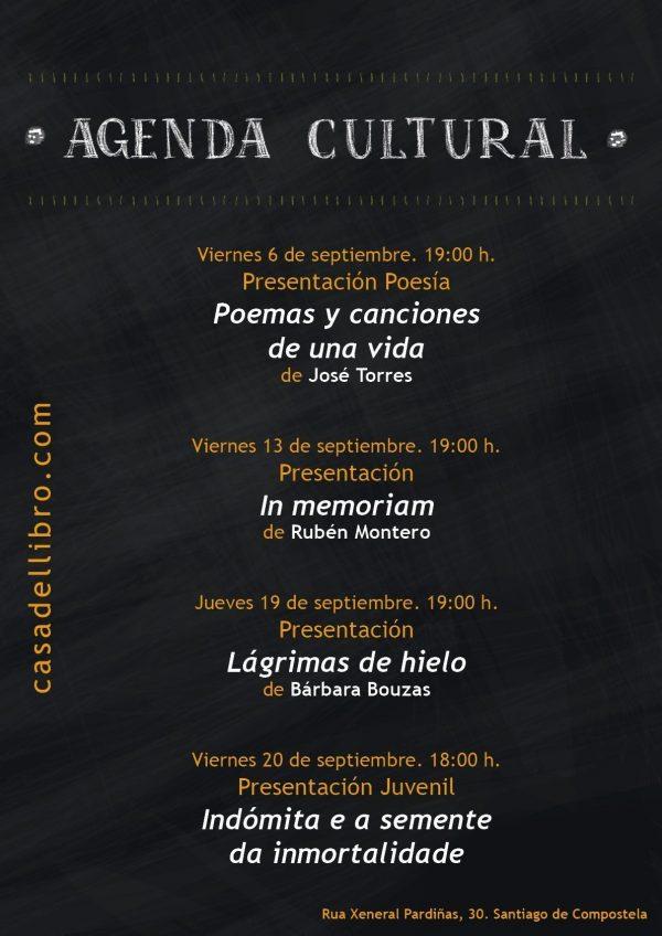 Agenda cultural septiembre - Casa del Libro Santiago de Compostela