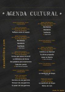 Agenda cultural septiembre - Casa del Libro calle Alcalá