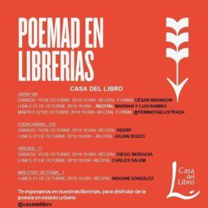 Poemad en nuestras librerías de Madrid