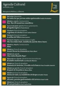 Agenda cultural de noviembre en Casa del Libro Albacete