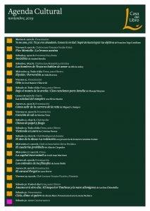 Agenda cultural de noviembre en Casa del Libro Russafa (Valencia)