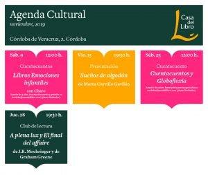 Agenda cultural Casa del Libro Córdoba