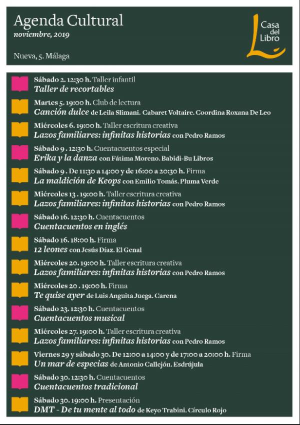 Eventos Málaga noviembre 2019